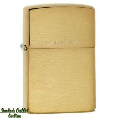 Zippo Brushed Brass Front