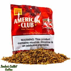 American Club Expanded Pipe Tobacco 1.5oz - Red