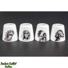 Ceramic Resin Snuffers - Native American Chiefs