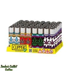 Clipper Large Lighter - Display/48 - Orient Leaves