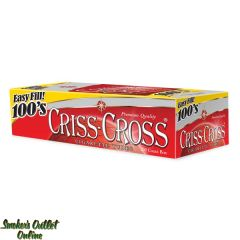 Criss Cross tubes 200 ct - Red 100mm