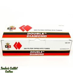 Double Diamond tubes 200 ct - Red 100mm