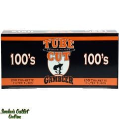 Gambler tubes 200 ct. TUBE CUT Regular 100mm