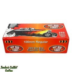 Hot Rod tubes 200 ct. Regular 100mm Cigarette Tubes