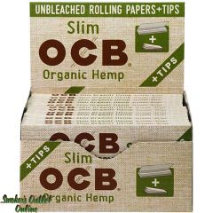 OCB Rolling Paper - Organic Hemp King Size Slim w/Tips