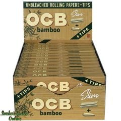 OCB Rolling Paper - Bamboo King Size Slim w Tips