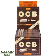 OCB Rolling Paper - Virgin 1 1/4 + Tips