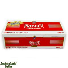 Premier tubes 200 ct. Red 100 mm