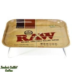 Raw Metal Rolling Tray with Legs