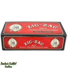 Zig Zag tubes 200 ct. Red 100 mm